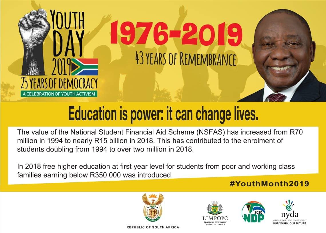 Education is power it can change lives YouthMonth2019